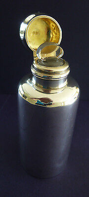Lovely Solid Silver Perfume Scent Bottle Hallmarked 1890 with Glass Stopper