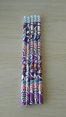 Vera Bradley Lot of 5 Pencils in Plum Crazy
