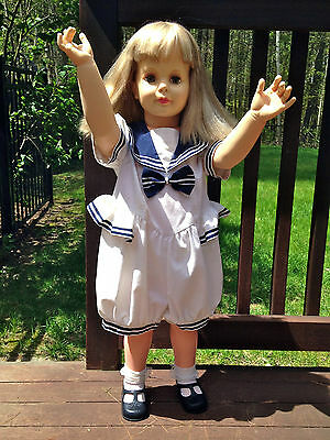 "35"" tall 1981 Vintage Ideal Toys Patti PlayPal Doll Marked G-35 35-5"