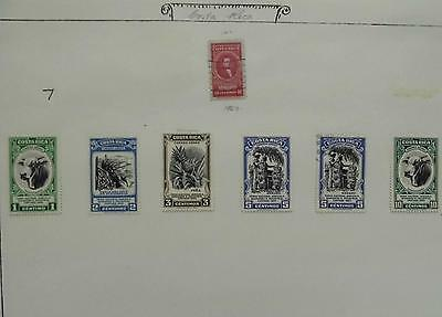 Costa Rica Stamps 1950 Hinged,
