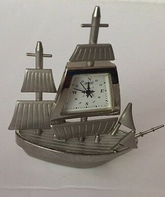 Churchill Vintage Solid Silver Heavy Miniature Clock