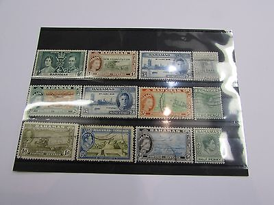 Selection of early Bahamas stamps MINT/USED