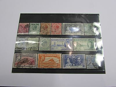 Selection of early Gibraltar stamps MINT/USED