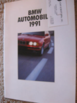 BMW 1991  brochure 850i, BMW 7 series,BMW 3, convertible