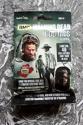 AMC THE WALKING DEAD DOG TAGS Season 4 (one UNOPENED Pack)