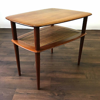 Retro Teak Danish coffee side table by Peter Hvidt France and Son Mid Century