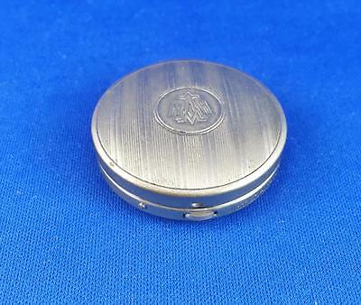 Harriet Hubbard Ayer Silver Tone Compact ~ Rouge Box c.1920's ~ Hinged~As IS