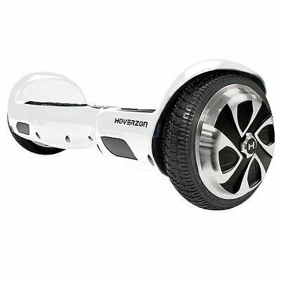 Hoverzon S Self Balancing Hoverboard Electric Scooter Board, White, New