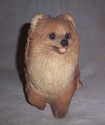 United Design Classic Large Pomeranian Dog Sculpture Figurine Signed Little John