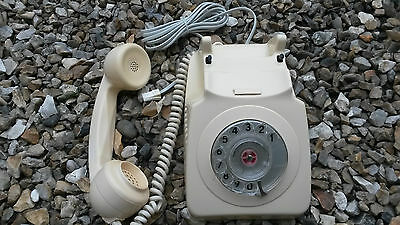 Original Vintage Retro 1974 Gpo 746 Rotary Dial Cream Telephone