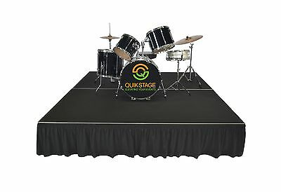 Quik Stage 6' x 8' Portable Stage Poly Drum Riser Package. Buy Factory Direct!