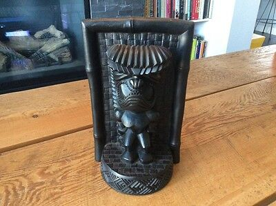 Vintage Retro Hawaiian Coco Joe 1968 Tiki Statue #292 made of Lava