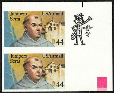 C116a - 44c Serra Airmail - Vert Pr - Imperforate  NH