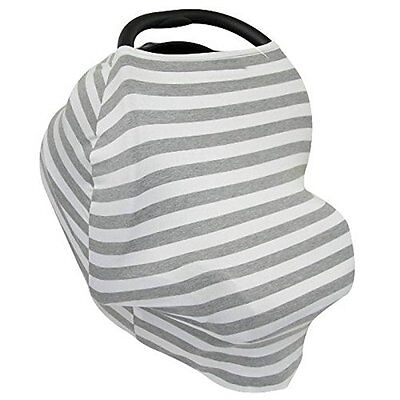 Leeaw Multi Use Carseat Canopy Shopping Cart Nursing Cover Infinity Scarf Grey
