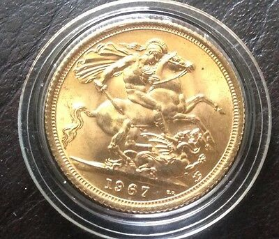 1967 Full Gold Sovereign 50th Birthday Wedding Solid Gold