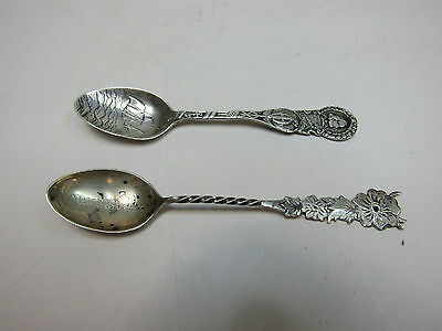 Lot of 2 Sterling Silver Marked Flatware Collectible Spoons Flowers Expedition