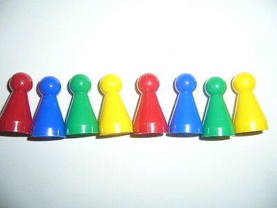 8 Plastic Playing Pieces for Board Games
