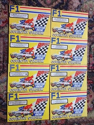 Stock Car Programmes Coventry 1985