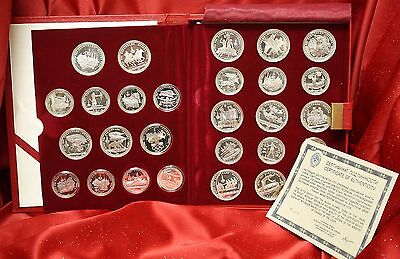 1980 USSR Moscow Olympics Proof Silver 28 Coin Set w/ COA! WOW!
