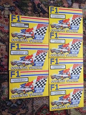 Stock Car Programmes Coventry 1986