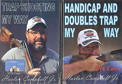 TWO Trap Shooting DVDs with Harlan Campbell Jr (160 minutes)/ Int'l  WELCOME