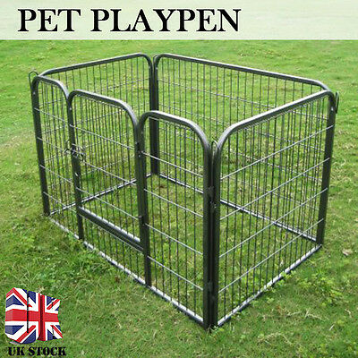 Heavy Duty Steel Dog Pet Puppy Playpen Run Crate Enclosure Welping Cage