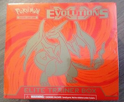 New & Sealed Pokemon TCG XY12 Evolutions Elite Trainer Box Mega Charizard Y