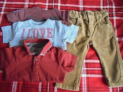 Next baby boys four item bundle age 6-9 months