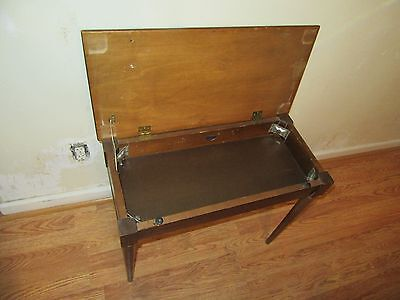 Antique Wood Hall/ Room Table With Opening Flip Top