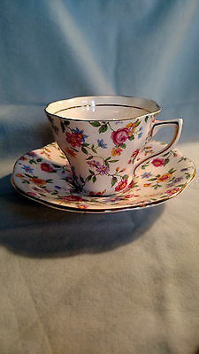Rosina Cup and Saucer - Multicolor Floral Pattern - Chintz