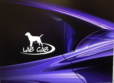 "LAB CAB Labrador Retriever Dog Window Decal Sticker 5""x8"""
