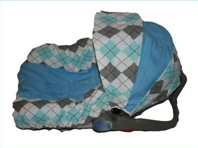 NEW BOYS Infant CAR SEAT COVER-For Graco Evenflo -BRET
