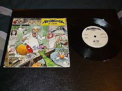 """Helloween. Dr Stein. 7"""" Single.poster Pack Edition. 1988 Noise Int. Thrash Speed"""