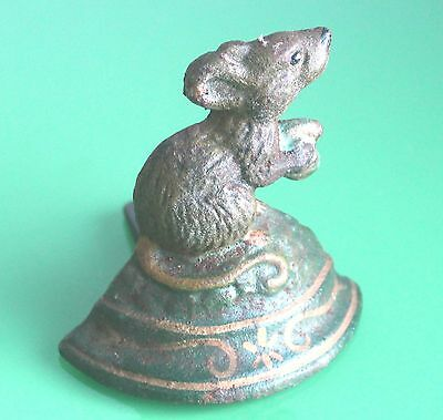 Antique Small Cast Iron Mouse Door Stop c.1960