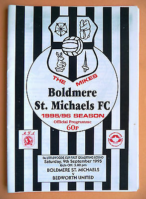Boldmere St Michaels v Bedworth United - fa cup 1st qualifying round- 09/09/1995