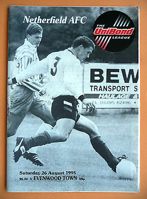 Netherfield v Evenwood Town 1995/1996 - fa cup preliminary round - 26/08/1995