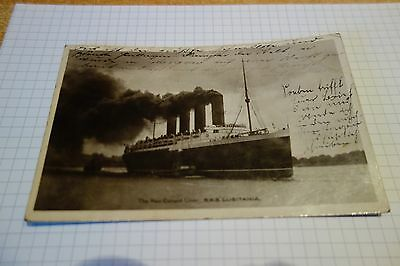 AK  Post card The new cunard Liner R.M.S. Lusitania 1907