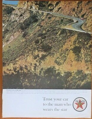 TEXACO Gas Gasoline Petroleum Petro  Print  Ad 1960's  Vintage Advertising
