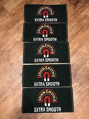 5x John Smiths Extra Smooth Beer Towels Pub Shed Bar Man Cave