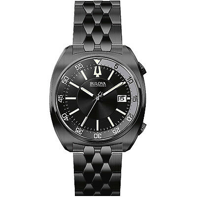 Bulova Accutron II Men's Quartz Black Bracelet 43mm Watch 98B219