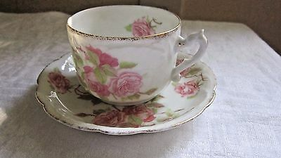R C Louis XV Bavaria Small Tea Coffee Demitasse Cup and Saucer X Swords & Crown