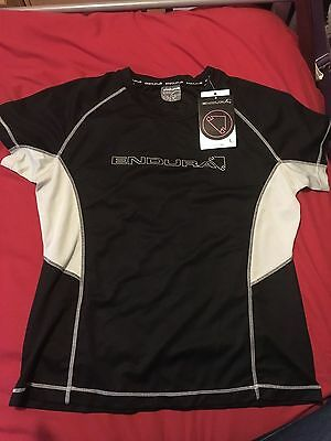 Endura Pulse Ladies Short Sleeved Cycling Top, size large, BNWT