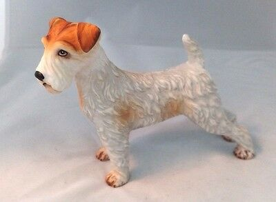 "Vintage AIREDALE Porcelain Figure Terrier Dog 4.5"" Tall Figurine"