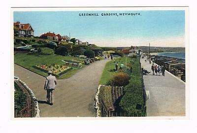 Coloured Postcard  - Greenhill Geardens - Weymouth