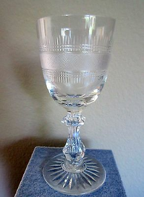 Exquisite 19th c. Blown & Cut,  Glass Cordial/Small Wine. Outstanding!