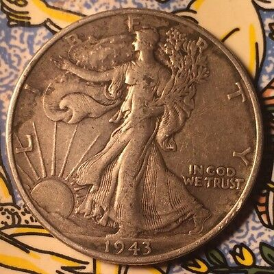 1943 P .900 Silver Walking Liberty Half Dollar Coin United States Of America
