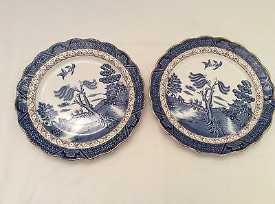 """Pair Of Booths Real Old Willow 8.25"""" Side/Breakfast Plate - Stunning"""