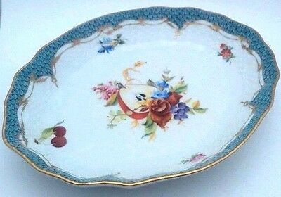 "Herend Bouquet of Flowers 8"" Oval Bowl - Made in Hungary - Hand Painted"