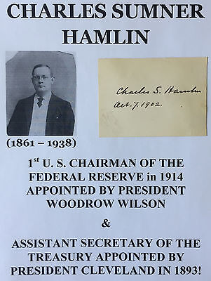 PRESIDENT WILSON 1st CHAIRMAN FEDERAL RESERVE/SECY TREASURY AUTOGRAPH SIGNATURE!