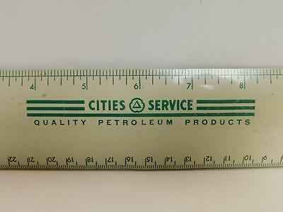 Cities Service CITCO Gas Station Quality Petroleum Products Metal Ruler Shelf 2